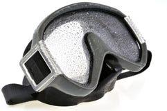Het duiken masker in close-up stock afbeeldingen