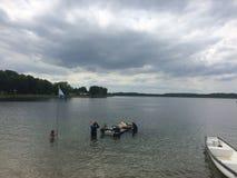 Het duiken in het meer Royalty-vrije Stock Foto