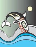 Het duiken Orka Royalty-vrije Stock Afbeeldingen