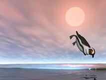 Het duiken Pinguïn Royalty-vrije Stock Fotografie