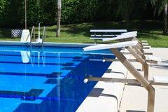 Het Duiken van de pool platforms Royalty-vrije Stock Afbeeldingen