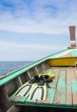 Het duiken Vin op de Boot royalty-vrije stock fotografie