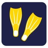 Het duiken vinnenpictogram stock illustratie