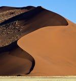 Het duin van het zand in de Woestijn Namib royalty-vrije stock foto's