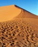 Het duin van het zand in woestijn Royalty-vrije Stock Afbeeldingen