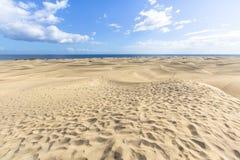 Het Duinwoestijn van het Maspalomaszand, Grote Canaria Royalty-vrije Stock Foto