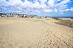 Het Duinwoestijn van het Maspalomaszand, Grote Canaria Royalty-vrije Stock Foto's