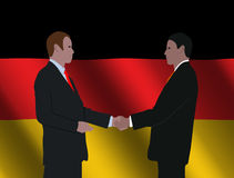 Het Duitse bedrijfsmensen samenkomen Royalty-vrije Stock Foto