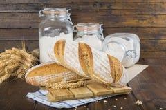 Het Duitse Panorama van het Brood van de Zuurdesem Stock Foto