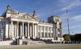 Het Duitse parlement in Berlijn, oktober 2010 Royalty-vrije Stock Afbeelding