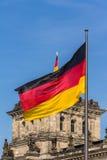 Het Duitse parlement bij nacht Royalty-vrije Stock Fotografie