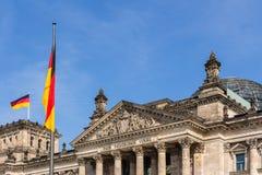 Het Duitse parlement bij nacht Royalty-vrije Stock Afbeelding