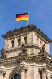 Het Duitse parlement bij nacht Royalty-vrije Stock Afbeeldingen