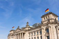Het Duitse parlement bij nacht Stock Foto's