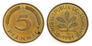 Het Duitse pfenning royalty-vrije stock foto