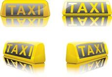 Het Duitse Teken van de Taxi Stock Foto's