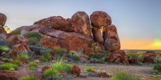 Het Duivelsmarmer (Karlu Karlu), Noordelijk Grondgebied, Australië Royalty-vrije Stock Afbeeldingen