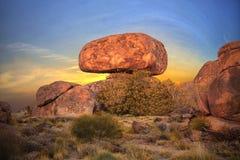 Het Duivelsmarmer (Karlu Karlu), Noordelijk Grondgebied, Australië Royalty-vrije Stock Afbeelding