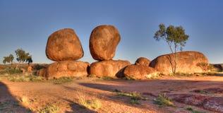 Het Duivelsmarmer (Karlu Karlu), Noordelijk Grondgebied, Australië Stock Foto