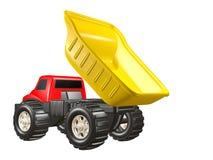 Het Dumpen van de Vrachtwagen van de Stortplaats van het stuk speelgoed stock illustratie