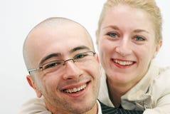 Het duo van de glimlach Royalty-vrije Stock Foto