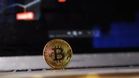 Het dure Bitcoin-Contante geld Modelexchange rates still groeit stock videobeelden