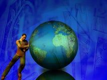 Het duwen van de Aarde stock illustratie