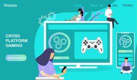 Het dwars-platform developmen stock illustratie