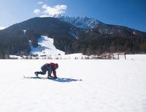Het dwars ski?en stock fotografie