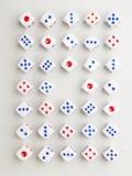 Het dwarspatroon van de centrummengeling Stock Afbeelding