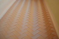 Het dwarsplafond Japan van de bamboevloer parquets criss stock foto