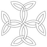 Het dwarssymbool van Triquetras Stock Illustratie