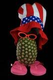 het dwaze kijken ananas Stock Afbeeldingen