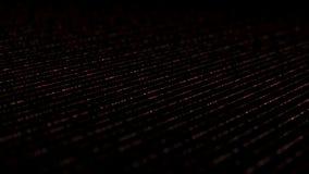 Het dynamische isometrische rood van bliksemlijnen royalty-vrije illustratie