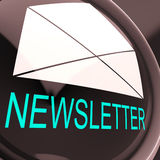 Het e-mail Bulletin toont Elektronisch wereldwijd Briefpost Royalty-vrije Stock Afbeelding