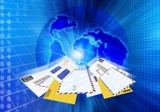 Het e-mail spamming Stock Foto