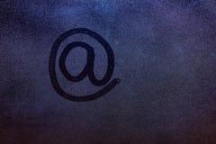 Het e-mailsymbool trekt Stock Afbeeldingen