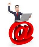 Het e-mailteken toont Bericht en Biz verzend stock illustratie