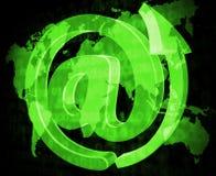 Het e-mailteken toont Bericht verzend en communiceer stock illustratie