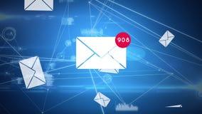 Het e-mailtelling stijgen