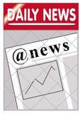 Het e-nieuws van kranten @ nieuws stock illustratie