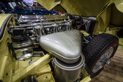 Het e-Type van Jaguar van het motorcompartiment Reeks 1 coupé, 1963 Royalty-vrije Stock Afbeelding
