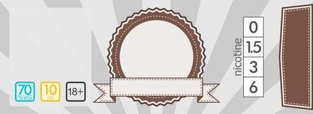 Het e-vloeibare malplaatje van het stickeretiket Stock Afbeeldingen