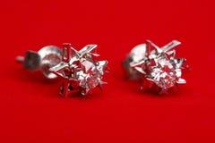 Het earing van de diamant Stock Foto