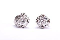 Het earing van de diamant Stock Afbeelding