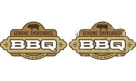 Het echte Symbool van de Barbecue van het Rookhok Royalty-vrije Stock Foto's