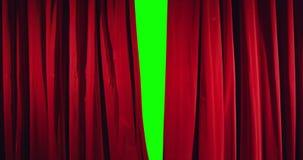 Het echte theatergordijn openen Royalty-vrije Stock Foto's
