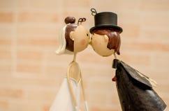 Het echtgenotenhuwelijk keurt bonbonniere goed Royalty-vrije Stock Foto