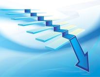 Het economische Concept van de Daling Stock Afbeeldingen