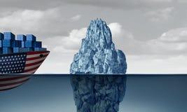 Het Economische Gevaar van Verenigde Staten vector illustratie